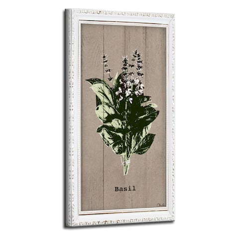 The Gray Barn Botanical 'Basil' Wrapped Canvas Kitchen Wall Art