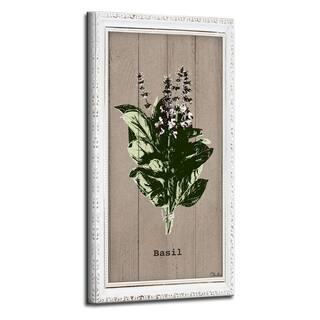 The Gray Barn Botanical 'Basil' Wrapped Canvas Kitchen Wall Art