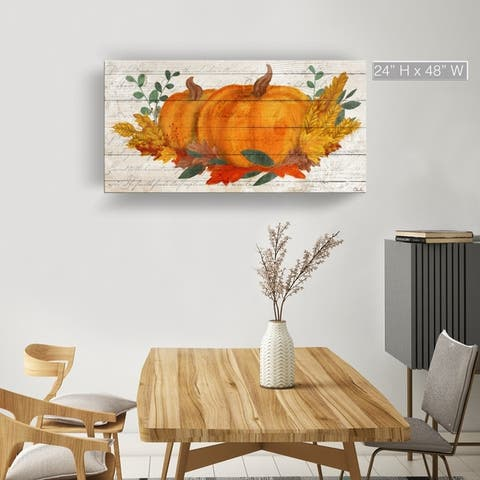 The Gray Barn'Pumpkin Harvest' Wrapped Canvas Autumn Wall Art