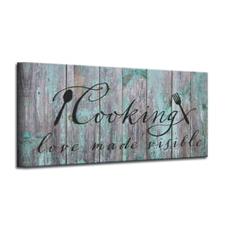 The Gray Barn 'Cooking' Wrapped Canvas Kitchen Wall Art