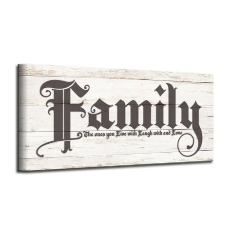 The Gray Barn 'Love of Family' Harvest Wrapped Canvas Textual Wall Art