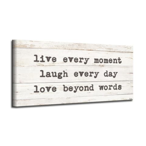 The Gray Barn 'Words to Live by' Wrapped Canvas Harvest Wall Art