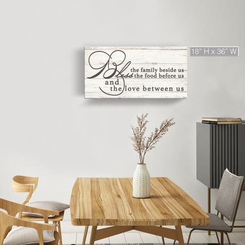 The Gray Barn 'Blessing' Wrapped Canvas Kitchen Wall Art