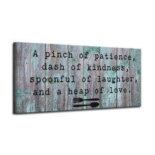 The Gray Barn 'Spoonful' Wrapped Canvas Kitchen Wall Art