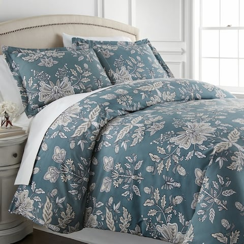 Vilano Plush All Seasons Vintage Garden Down Alternative 3-piece Comforter