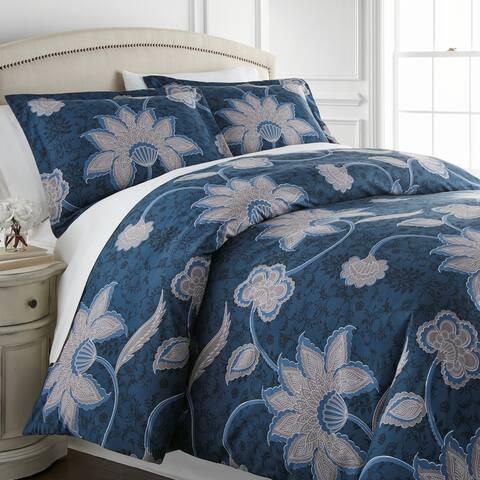 Vilano Plush All Seasons Grand Floral Down Alternative 3-piece Comforter
