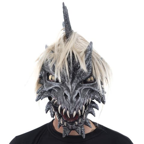 Zagone Studios Monroe the Dragon Latex Adult Costume Mask (one size) - Great for Theater, Cosplay, Halloween or Renn Fairs.