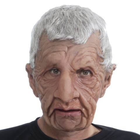 Zagone Studios Coach Old Man Latex Adult Costume Mask (one size) - Great for Theater, Cosplay, Halloween or Renn Fairs.