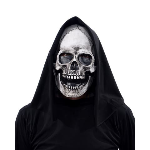 Zagone Studios Glow Grim Skull (UV) Latex Adult Costume Mask (one size) - Great for Theater, Cosplay, Halloween or Renn Fairs.