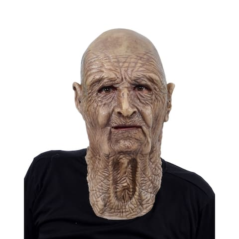Zagone Studios Stinker Old Man Latex Adult Costume Mask (one size) - Great for Theater, Cosplay, Halloween or Renn Fairs.