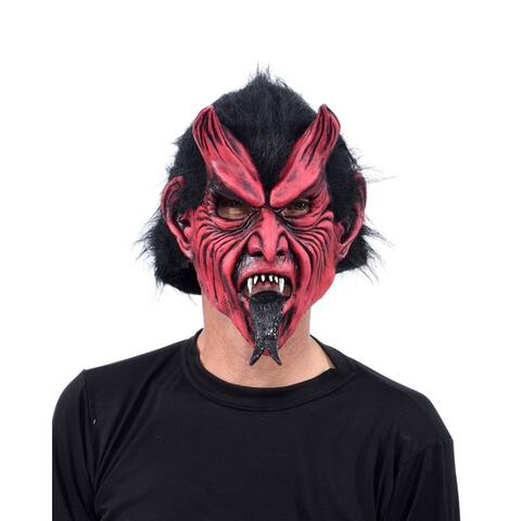 Zagone Studios Classic Devil with Tongue Latex Adult Costume Mask