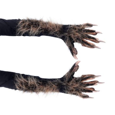 Zagone Studios Dress Up Costume Adult Brown Killer Wolf Gloves