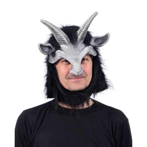 Zagone Studios Cute Black Satyr Headpiece Latex Adult Costume Mask