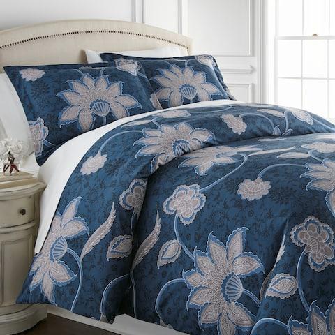 Vilano Premium Ultra-Soft Grand Floral Duvet Cover and Sham Set