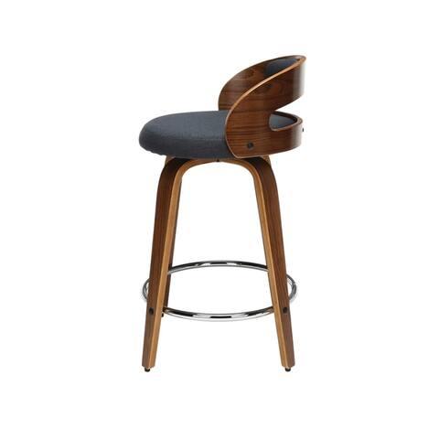 Carson Carrington Uggelhult Bentwood Frame Swivel Seat Stool