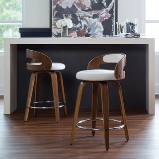 Link to Carson Carrington Uggelhult Bentwood Frame Swivel Seat Stool Similar Items in Dining Room & Bar Furniture