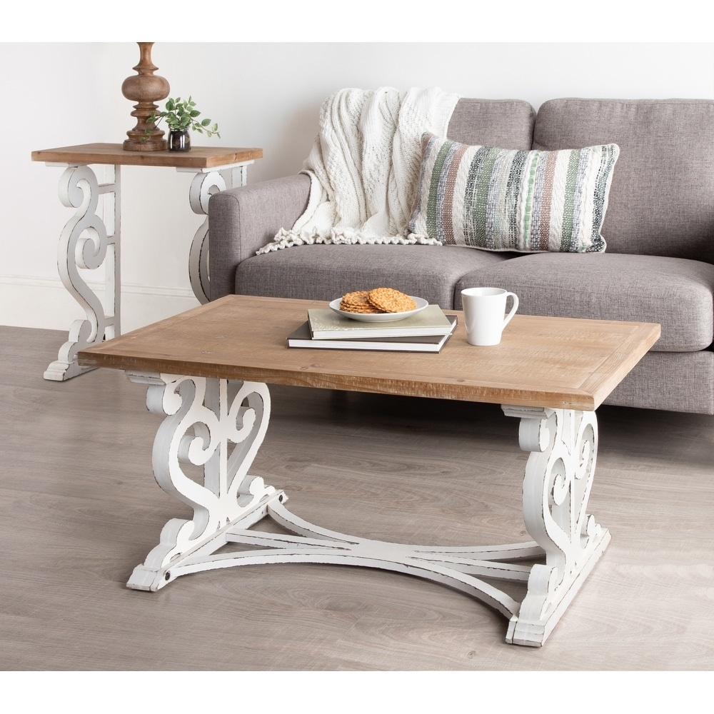 Kate And Laurel Wyldwood Rustic Carved Wood Coffee Table 38x23x18 Overstock 28654790