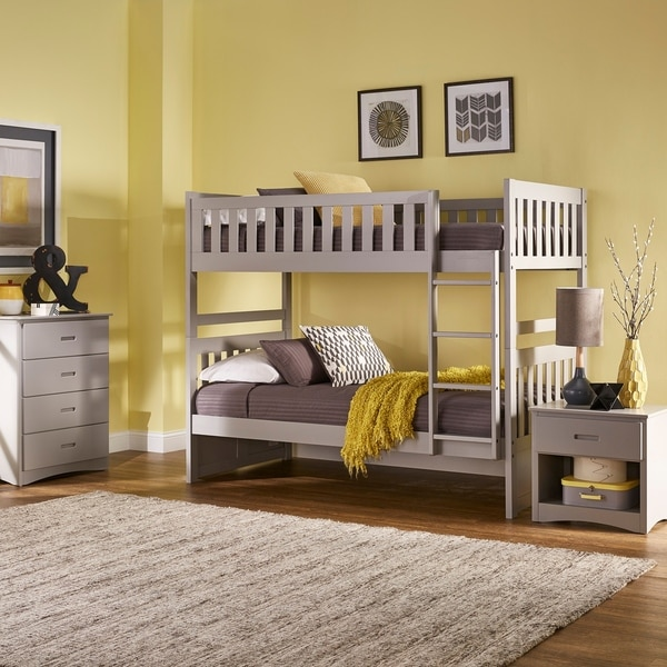 Hunter Grey Twin over Twin Bunk Bed by iNSPIRE Q Junior