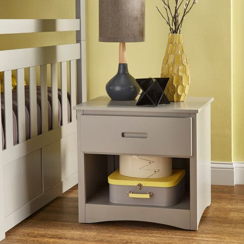 Hunter Grey Nightstand with One Drawer by iNSPIRE Q Junior