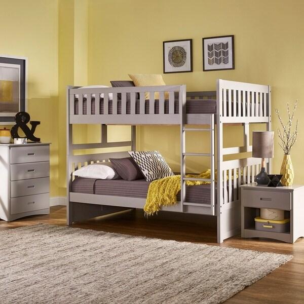 Hunter Grey Full over Full Bunk Bed by iNSPIRE Q Junior