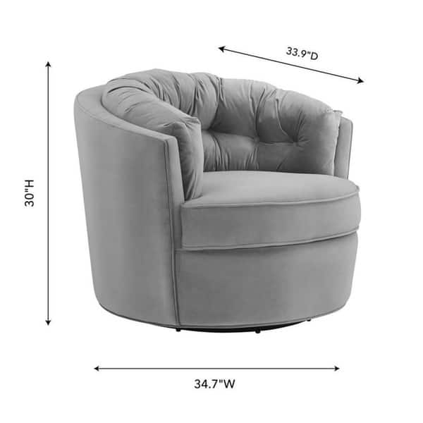 Pleasant Shop Eloise Grey Velvet Swivel Chair Free Shipping Today Evergreenethics Interior Chair Design Evergreenethicsorg