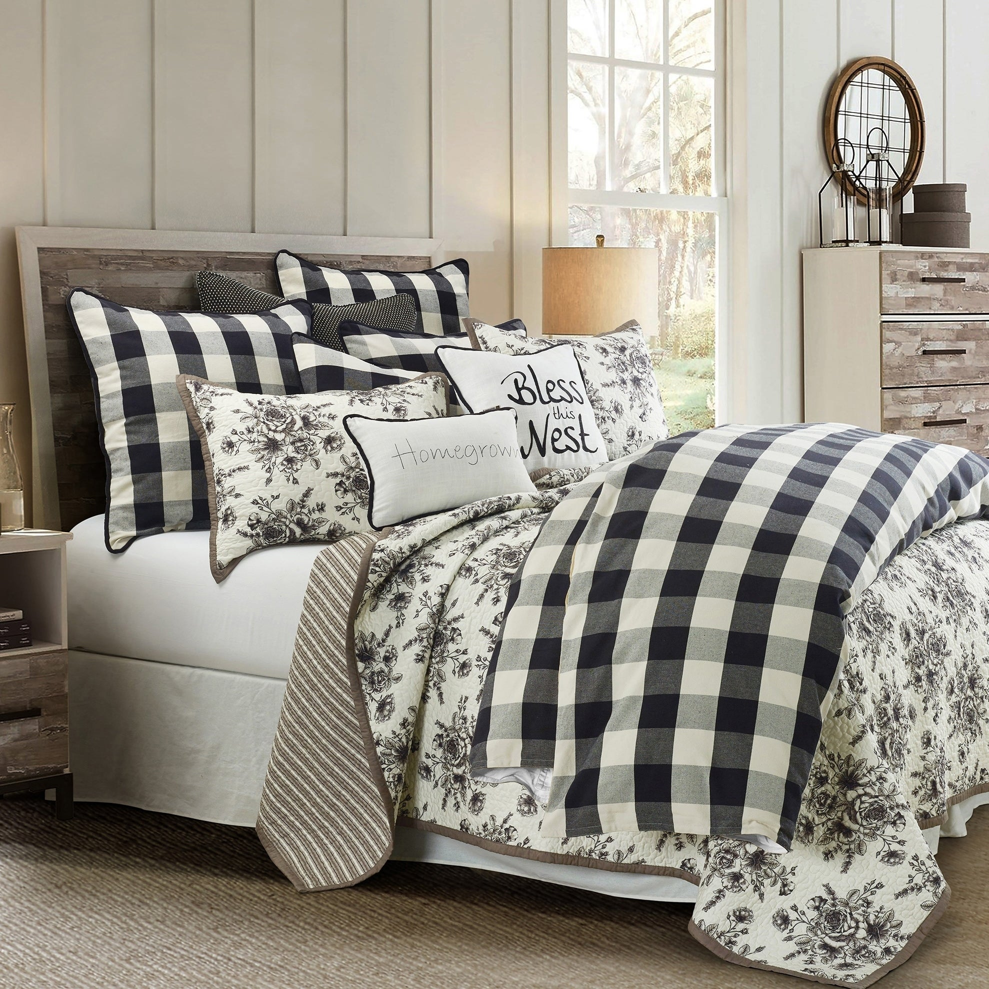 Hiend Accents Camille Comforter Set Twin Black White 3pc Overstock 28654975