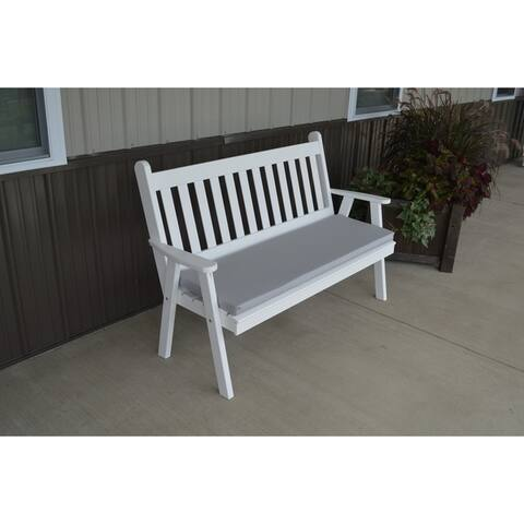 5 Foot Pine Outdoor Traditional English Style Garden Bench