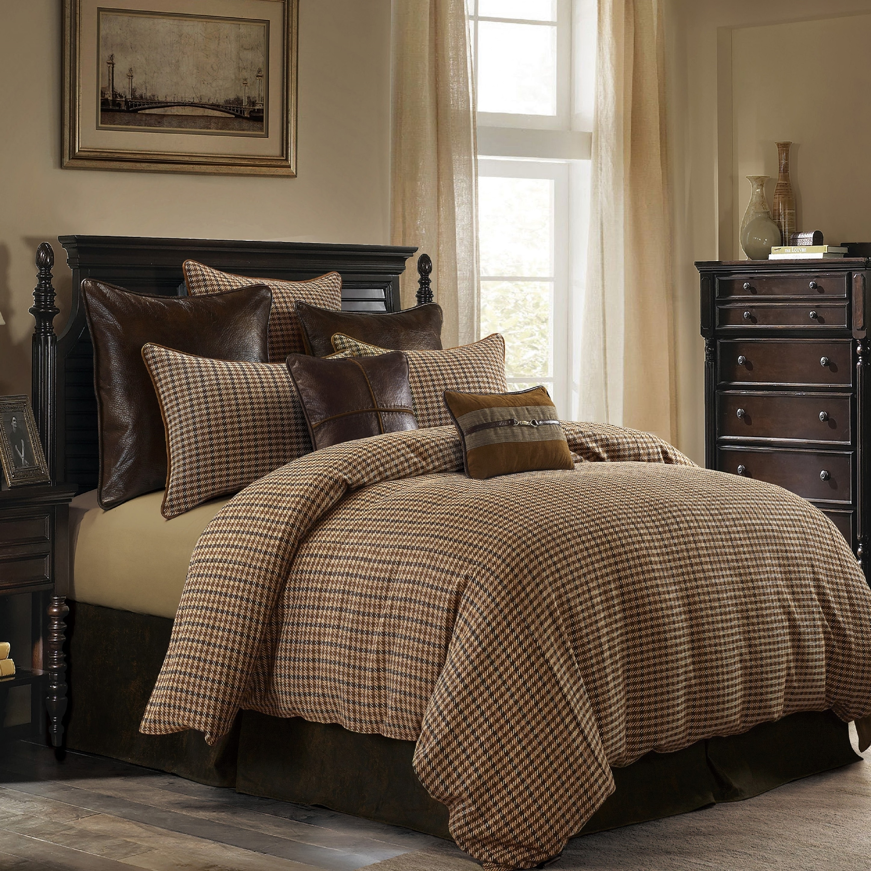 Shop Black Friday Deals On Hiend Accents Clifton Comforter Set Super Queen Overstock 28654991