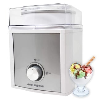 Professional Electric 2-Quart Ice Cream Maker & Frozen Yogurt Sorbet Maker 2.5 Liter, White-Comes With 2 Year Warranty