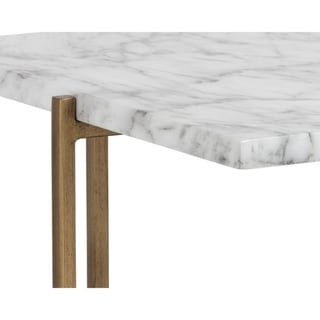 Sunpan MIXT 102936 Solana Coffee Table - Rectangular - Marble Look