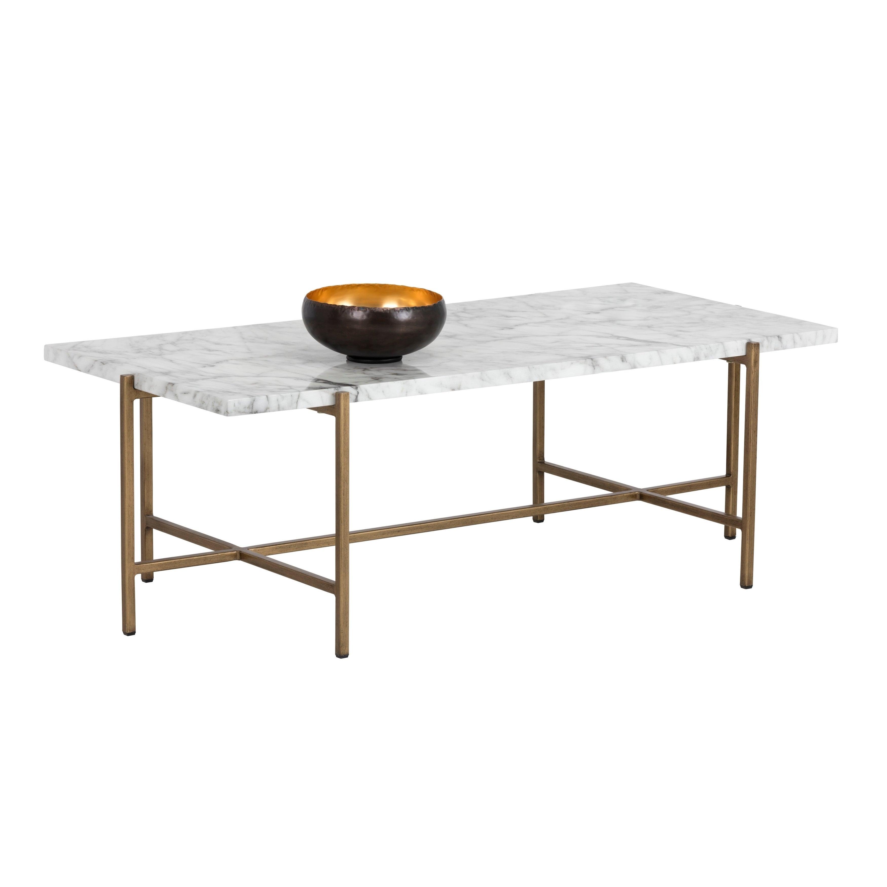 Shop Sunpan Mixt 102936 Solana Coffee Table Rectangular Marble Look Overstock 28655131