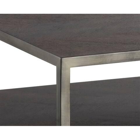 Sunpan Zenn 102592 Mara Coffee Table - Square - Smoked Mocha