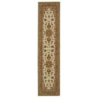 "Safavieh Handmade Persian Court Traditional Ivory / Green Wool Rug - 2'6"" x 10'"
