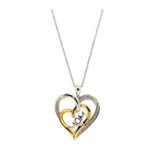 Forever Last Sterling Silver Gold Plated MOM Pendant On Necklace
