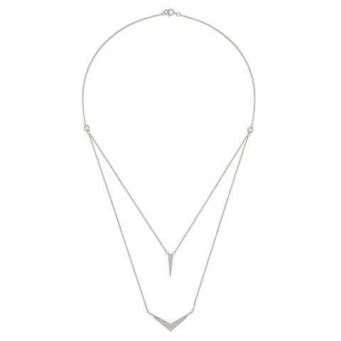 """Forever Last Sterling Silver """"V"""" Necklace"""