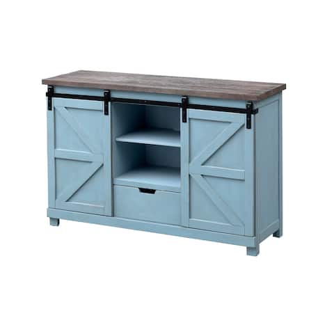 Two Sliding Door Two Drawer Credenza