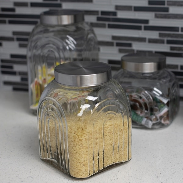 3.5 LT Glass Jar with Silver Lid