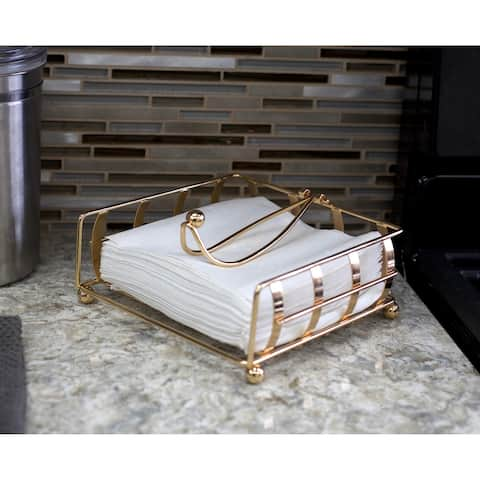 Napkin Holder with Weighted Pivoted Arm