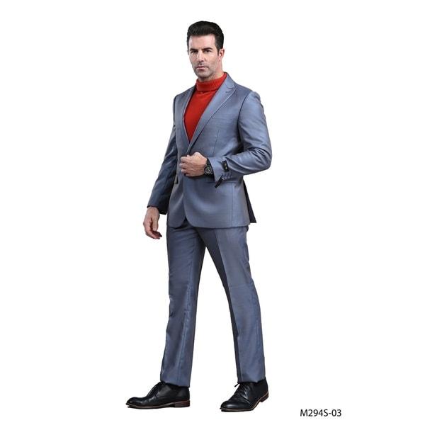 Men Suit 2 Pieces Peak Lapel Slim Fit Suit by  Best Choices