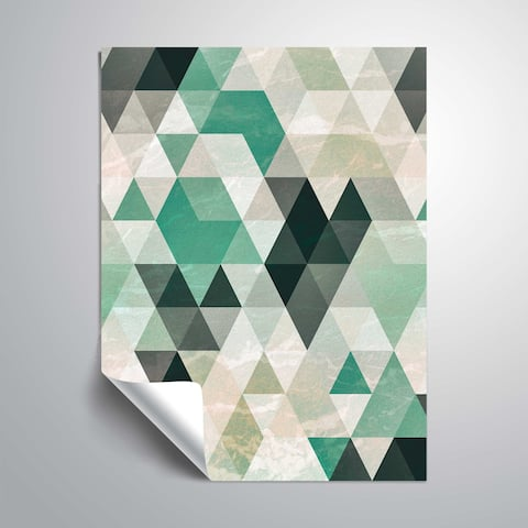 Artwall Triangle Pattern Removable Wall Sticker
