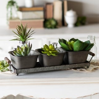 Link to Metal triple planters Similar Items in Decorative Accessories