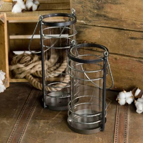 Metal/glass holders (Set/2)