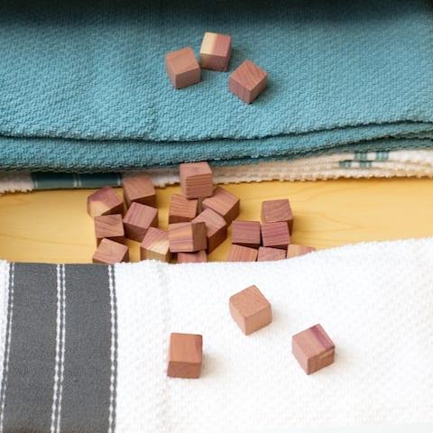 Bug-Repellent Cedar Cubes, (Pack of 24) - Dress/Shirt - Brown