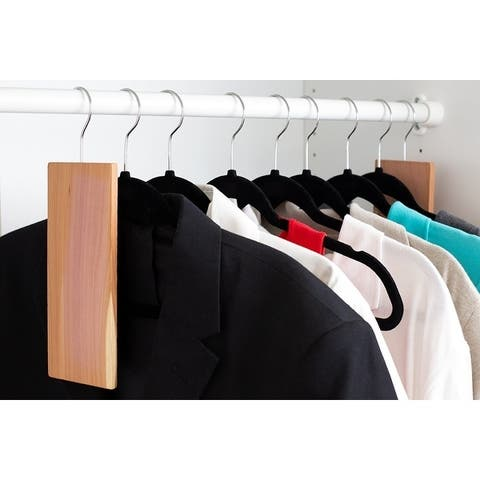 Bug-Repellent Hanging Cedar Blocks, (Pack of 2) - Dress/Shirt - Brown