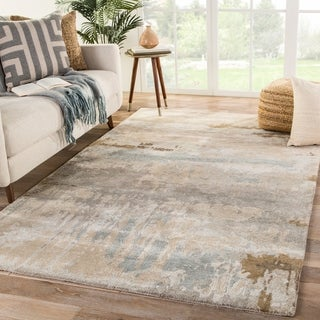 Ilsted Handmade Abstract Brown/ Gray Area Rug