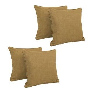 Blazing Needles 18-inch Indoor/Outdoor Throw Pillows (Set of 4)