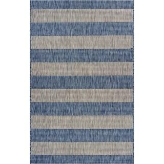 """Coastal Stripes Indoor/Outdoor Rug - 7'9"""" x 9'9"""""""