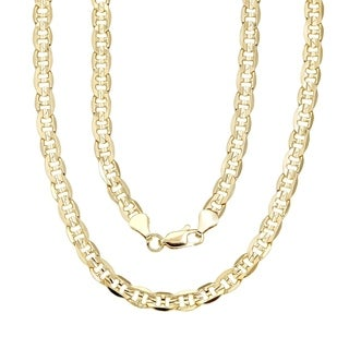 6mm Gucci Style 18 Inch Gold Silver Overlay Chain By Simon Frank Designs 18 X 1