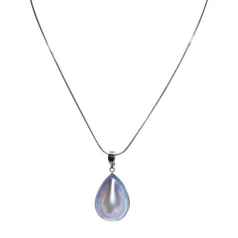 Blister Pearl Pendant with Silver