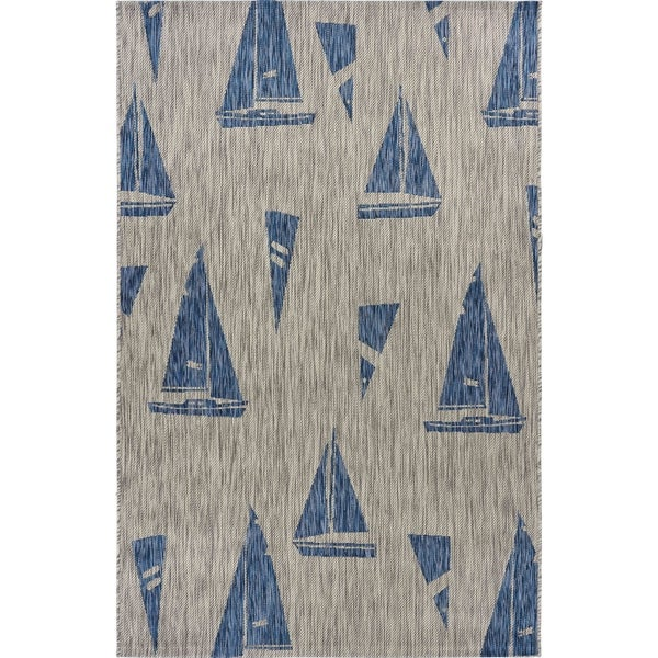 Sails Up Indoor Outdoor Rug 5 X 7 On Ships